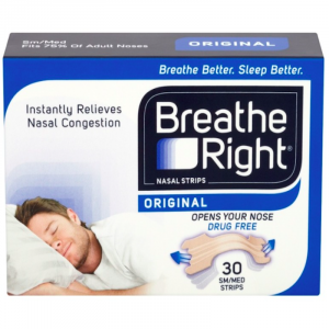 Breathe Right Snoring Congestion Relief-Nasal-Strips-30-Small:Medium-Strips