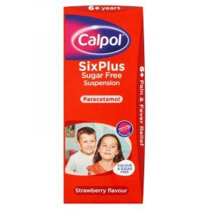 Calpol-SixPlus-Sugar-Free-Strawberry-Flavour-Suspension-200ml