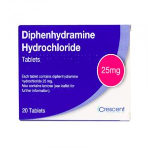 Diphenhydramine-25mg-Tablets-20 Tablets